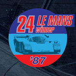 Aufkleber:  Porsche Le Mans 1987 Winner Window Sticker