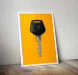 Poster: Porsche Key / Schlüssel Poster 911 964 und 993