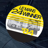 Aufkleber:  Porsche Le Mans 1984 Winner Window Sticker
