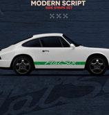 Aufkleber Seitenschweller, Modern Look, entspricht (Nachbildung ) der 911 964 RS Version