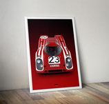 Poster Porsche 917 Rot