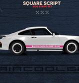 Aufkleber Seitenschweller, Square Look, entspricht (Nachbildung ) der frühen Porsche 911