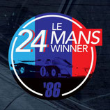 Aufkleber:  Porsche Le Mans 1986 Winner Window Sticker