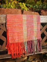 Schal aus Tussah Seide und Merino Wolle