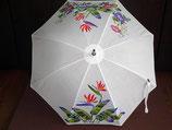 手染日傘   素材 綿  白
