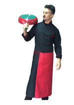 Giacca chef uomo nera/rossa M/L