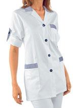 Camice Moda Bianco/Blu a Righe