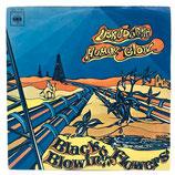 Black Blowing Flowers - Human Glow