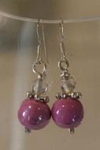 Boucles d'oreilles céramique lilas