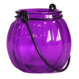 Lanterne  citrouille lavande