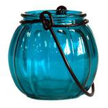 Lanterne citrouille bleue