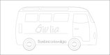Etichetta bagaglio bus + nome