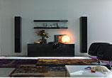 Mueble con forramiento de pared entretenimiento y ambientación social