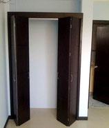 Closets frentes bastidor con puertas plegables