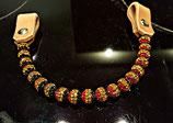 Earloop einfarbig dreifarbige Perle