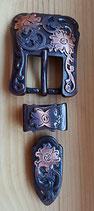 2x Belt Schnallen- Set Kupfer
