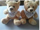 "Teddybär ""Schön dass Du da bist"""