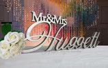 Schriftzug Mr & Mrs