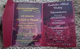 Einladungskarte 5teilig mit Lasercut und Acrylgals