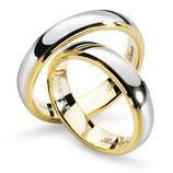 Fedi Comete Gioielli Renzo e Lucia in Oro Giallo e Bianco codice: ANB1112BG