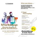 Anmeldung zum Workshop mit Martin Regnat und Jakob  Steinkellner