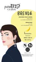 Maschera Viso Bio Brenda Pelle secca - PuroBio Cosmetics