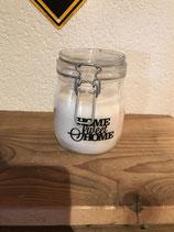 Kerze im Einmachglas