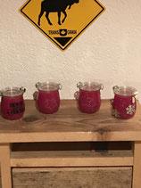 Kerzen im Weckglas