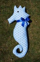 Seepferdchen groß - hellblau mit blauen Sternen