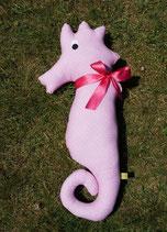 Seepferdchen groß - rosa Blümchen