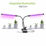 10W Doppel-Pflanzenlampe komplett mit Klemmvorrichtung, separat schaltbar
