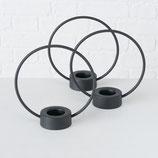 Teelichthalter RING schwarz