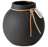 ERNST Vase dunkelgrau matt groß