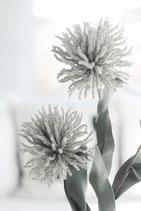 Kunstblume Pompom Flower sandfarben