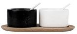 RÄDER Tischgewürze Marmor auf Holztablett