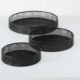 Rundes Dekotablett schwarz (3 Größen)