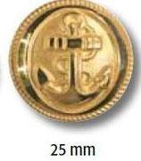 UK-Metallknopf mit Öse 25mm 15029