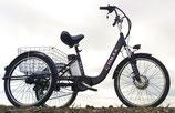 Dreirad Elektro schwarz