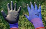 Allzweckhandschuhe, blau/schwarz  Gr.8 (M)