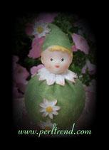 Blümchen Margerite Grün Figur Dekoration