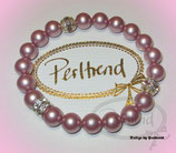 Stretcharmband Lovely Vintage Rose Pearls 21