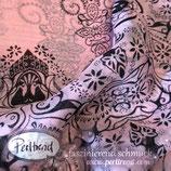 Foulard Schal Tuch Black Ornament rosa