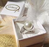 Fingerring White Pearl Silver 50