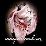 Quadratischer Schal mit Aufdruck Rosa Mix103