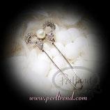 Anstecknadel Schlaufe mit Perle
