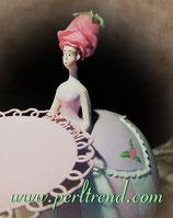 Rosen Mädchen Figur mit Schale Dekoration