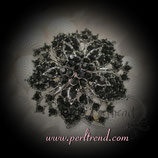 Brosche Magic Black Crystal Flower