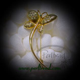 Brosche Crystal Golden Schmetterling