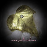Brosche golden Efeu Blatt