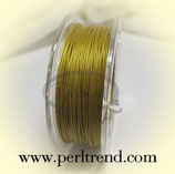 Schmuckdraht pearl goldfarben 0.50mm